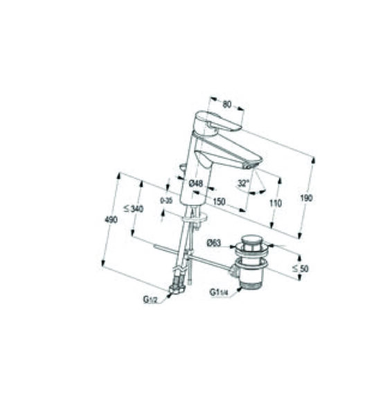 بطارية مغسلة بروجكت 11060-02