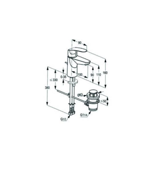 بطارية مغسلة بيرل 03-17040-02